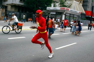 Se sentindo o The Flash! Rá!