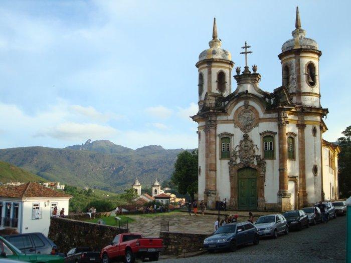 Igreja São Francisco de Assis, considerada por muitos, obra prima de Aleijadinho. Foto: Maruscka Grassano.