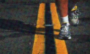 Pra correr na rua tem que ter atenção e segurança.